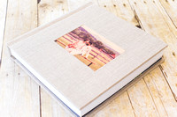 01_Linen Album with Wood Image Cameo_ 2015_Photojournalism by Rodney Bailey