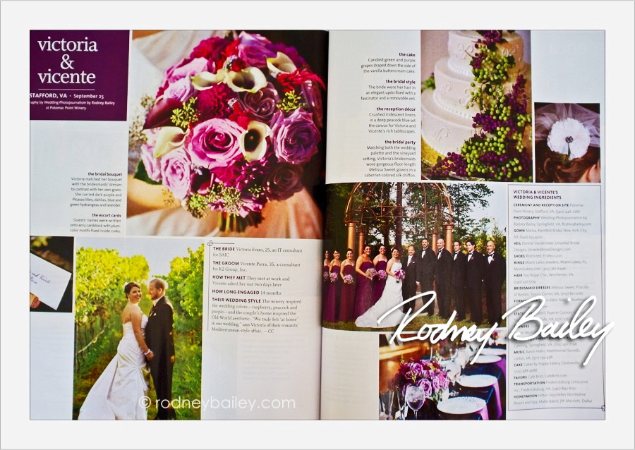 The Knot Magazine feature Real Wedding