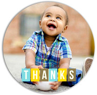 Thank You Card 2b - Bright Circle Front